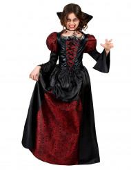 Costume da vampiro nero e bordeaux per bambina - Halloween