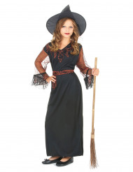 Costume strega nero bambina Halloween