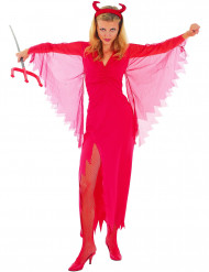 Costume diavolessa con velo donna Halloween