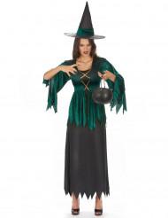 Costume da strega verde donna Halloween