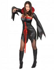 Costume corto da vampiro donna Halloween