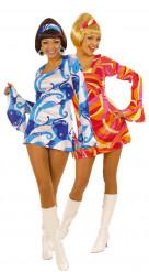 Costumi da coppia discoteca blu e rosso donne