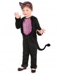 Costume tuta da gatto bambina