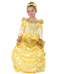 Costume principessa dorato ragazza con cerchio sottogonna