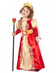 Costume regina rosso e oro da bambina