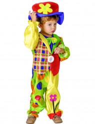 Costume da clown con fiori per bambino