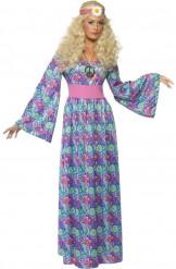 Costume hippie a fiori donna