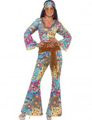 Costume hippie psicadelico per donna