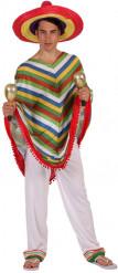 Costume poncho da messicano uomo