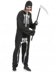 Costume tuta da scheletro uomo Halloween