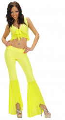 Costume disco sexy giallo per adulto