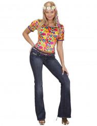 Costume maglia hippie a fiori donna