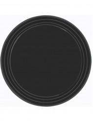 8 piatti neri