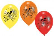 6 Palloncini teschi Halloween