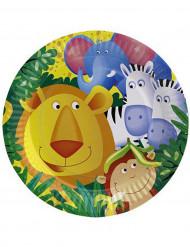 8 piatti Safari