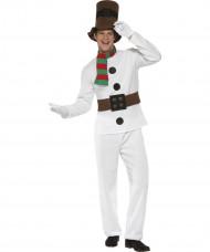 Costume omino di neve adulto Natale