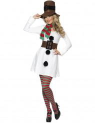 Costume pupazzo di neve donna natale