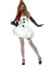 Costume pupazzo di neve donna