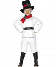 Costume pupazzo di neve Natale bambini