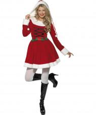 Costume Mamma Natale con agrifoglio donna