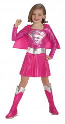 Costume da Supergirl™ rosa per bambina.