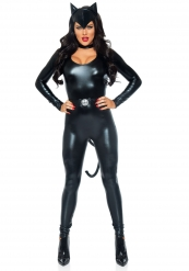 Costume gatto sexy donna in simil pelle