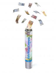 Cannone con coriandoli banconote