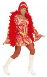 Costume Drag Queen disco arancione uomo