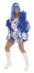 Costume Drag Queen blu disco adulto