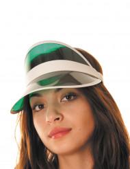 Visiera verde da giocatore di poker