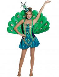 Costume deluxe da pavone donna