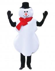 Costume pupazzo di neve Natale adulto