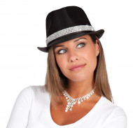 Cappello borsalino con strass