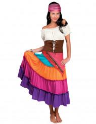 Costume da zingara arcobaleno donna