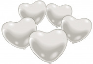 10 palloncini cuore bianco
