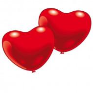 10 palloncini cuore rosso