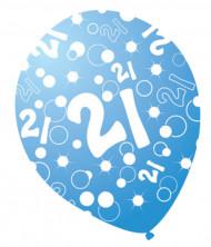 6 palloncini anni perlati blu