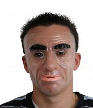 Maschera viso uomo serio