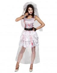Costume sposa zombie donna Halloween