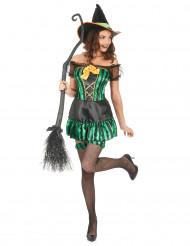 Costume da strega con giarrettiere per donna