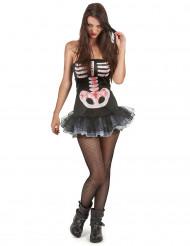 Costume scheletro sexy adulto Halloween per donna