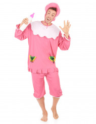 Costume bebè rosa per uomo