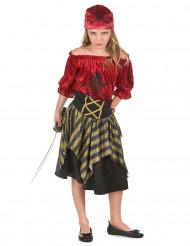 Costume pirata di velluto per bambina