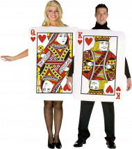 Costume coppia carte re e regina di cuori