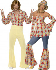 Costume coppia disco hippie per adulti