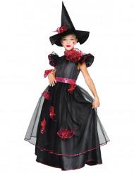 Costume strega rose bambina