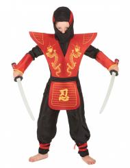 Costume da ninja nero e rosso per bambino
