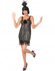Costume Charleston donna con copricapo
