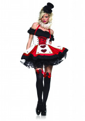 Costume giocatrice di carte sexy donna