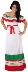 Costume messicano tricolore per donna
